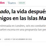 Nota en <i>La Nación</i> sobre <i>Campo minado</i>
