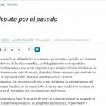 Columna de Agustín Cosovschi en <i>La Nación</i>