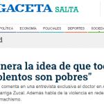Entrevista a José Garriga Zucal en <i>La Gaceta</i>