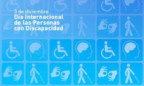 3 de Diciembre Día Internacional de la Personas con Discapacidad. En la imagen, distintos logotipos referenciando la Heterogeneidad en la Discapacidad. Personas sorda, ciega, hipoacúsicas, con discapacidad intelectual y motora.