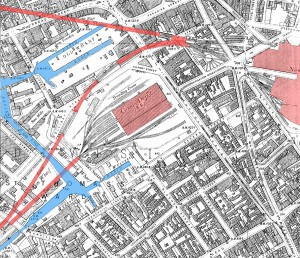 birmingham_worcester_wharf_central_goods_depot_os_map_2nd_edition_1905_showing_canals_rail_tunnels_and_central_goods_and_new_street_stations