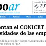 <i>Tiempo Argentino</i> habló con Ezequiel Adamovsky sobre el conflicto del CONICET