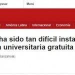 <i>BBC Mundo</i> consultó a Alejandro Grimson sobre la gratuidad universitaria en Chile