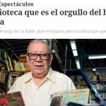 Nota en <i>Clarín</i> sobre la biblioteca La Nube