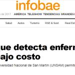 Nota en <i>Infobae</i> sobre el biosensor desarrollado por la UNSAM y el INTI