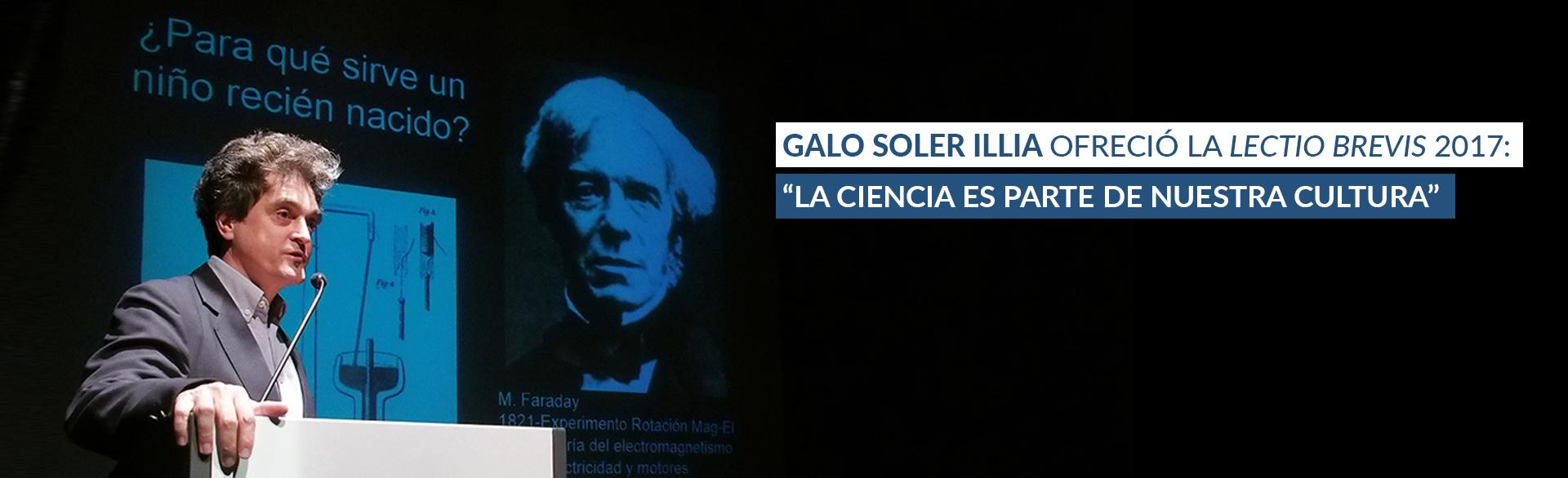 Galo Soler Illia ofreció la lectio brevis 2017
