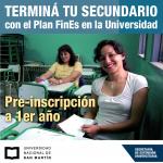 Terminá el secundario con el Plan FinEs en la UNSAM