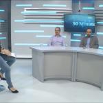 Alejandro Grimson y Pablo Semán en el programa televisivo <i>50 minutos</i>
