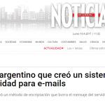 Nota sobre la innovación de Ezequiel Álvarez en la revista <i>Noticias</i>