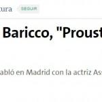 Nota en <i>La Nación</i> sobre Alessandro Baricco