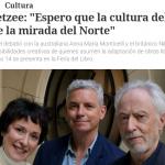 Diálogo en <i>Clarín</i> entre J. M. Coetzee, Anna María Monticelli y Nick Drake