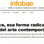 <i>Infobae</i> consultó a Ricardo Ibarlucía sobre arte performático