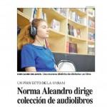 Nota en <i>Perfil</i> sobre el proyecto Audiolibros