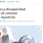 Stella Maris Caniza de Páez escribió en <i>La Nación</i> sobre pensiones y discapacidad