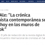 <i>El Tribuno</i> entrevistó al jefe de redacción de <i>Anfibia</i>