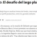 Nota en <i>La Nación</i> sobre Argentina 2030, grupo al que pertenece José Barbero