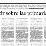 Columna de Alejandro Tullio en <i>El Economista</i>