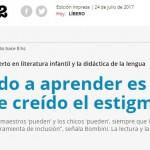 Entrevista a Gustavo Bombini en <i>Página/12</i>