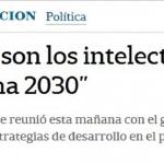 Nota en <i>La Nación </i> sobre los intelectuales del Consejo Argentina 2030