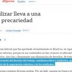 Columna de Carlos Tomada en <i>La Nación</i>
