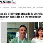 <i>La Opinión</i> de Pergamino destacó el premio otorgado a bioinformaticos de la UNSAM