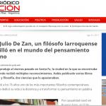<i>Periódico Acción</i> recordó al filósofo Julio de Zan