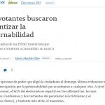 Columna de María Matilde Ollier en <i>La Nación</i> sobre las PASO