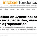 Adrian Mutto fue consultado por <i>Infobae</i> sobre la edición genética en la Argentina