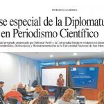 <i>Perfil</i> destacó la clase de periodismo científico que dictó Elida Hermida