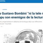 <i>La Gaceta</i> entrevistó Gustavo Bombini