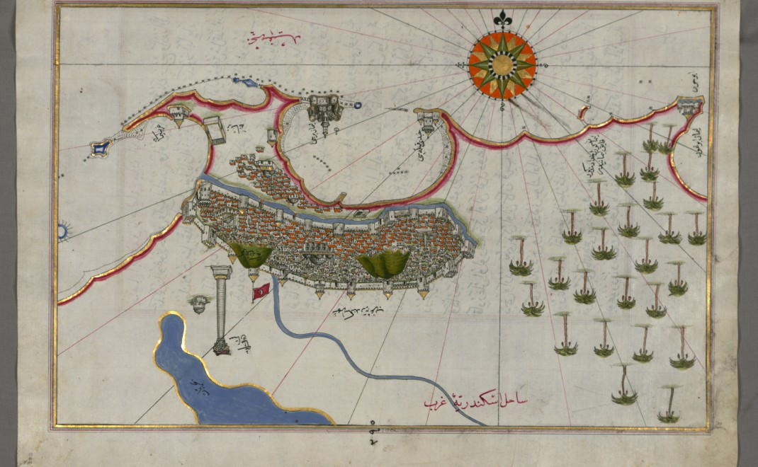 piri_reis_-_map_of_the_city_of_alexandria_-_walters_w658302a_-_full_page