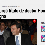 Repercusiones en los medios sobre el Honoris Causa que la UNSAM le entregó a Lavagna