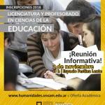 Reunión informativa para los aspirantes a las carreras de Educación