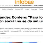 Entrevista a Laura Fernández Cordero en <i>Infobae</i>