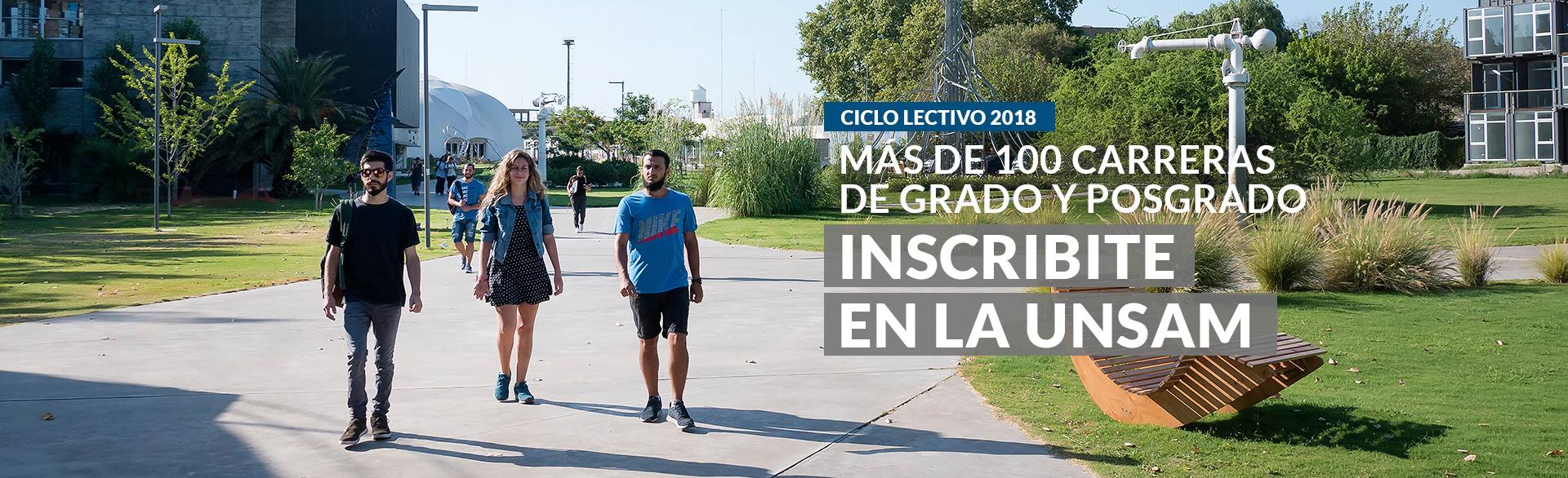Ciclo Lectivo 2018: Inscribite en la UNSAM