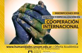 Maestría y Especialización en Cooperación Internacional