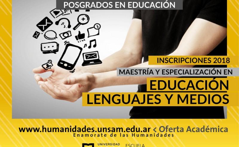 Maestría y Especialización en Educación, Lenguajes y Medios