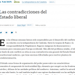 Columna de Juan Negri sobre las contradicciones del Estado liberal en <i>La Nación</i>