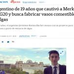 Entrevista en <i>La Nación</i> al alumno de la UNSAM que participó en la Cumbre de Jóvenes del G20