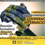 Charla informativa para aspirantes a los posgrados en Cooperación Internacional