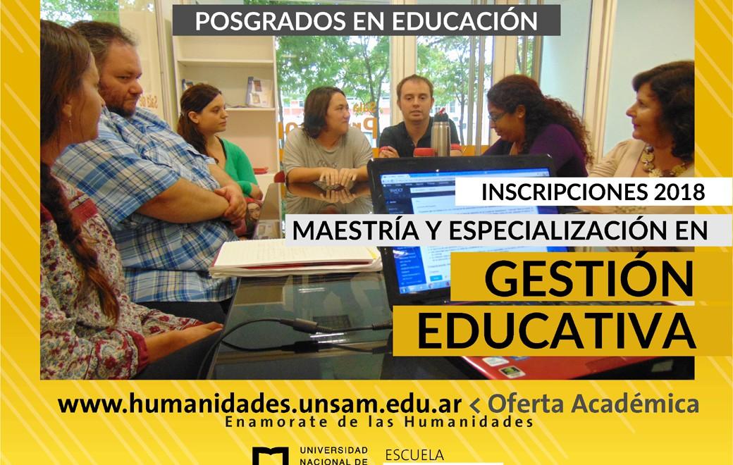 Maestría y Especialización en Gestión Educativa