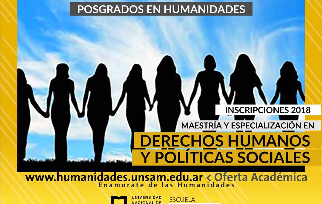 Maestría y Especialización en Derechos Humanos y Políticas Sociales
