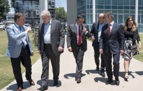 Mario Greco, Alberto Carlos Frasch, Alejandro Finocchiaro, Marcelo Paz, Carlos Greco y Danya Tavela