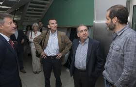 Carlos Greco, Aníbal Gattone, Lino Barañao y Daniel de Florian