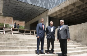 Carlos Greco, Lino Barañao y Alberto Carlos Frasch