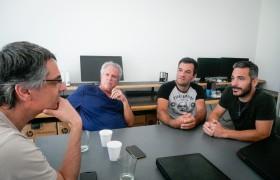 De izq. a der.: Udi Ben-Arie, Nitzan Ben Shaul, Agustín Álvarez y Leandro Visconti