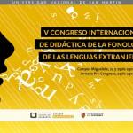 V Congreso Internacional de Didáctica de la Fonología de las Lenguas Extranjeras