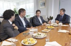 De izq. a der.: Mazzei, Fernando Porfidio, Monzón y Carlos Greco