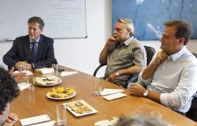De izq. a der.: Greco, Claudio Ferrari y Martín Reibel