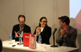 De izq. a der.: Gabriel Pérez Barreiro,  Maria Amalia García y Agustín Fischer